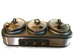 Crock-Pot Trio Cook and Serve Slow Cooker and Food Warmer, S