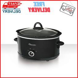 Crock-Pott 7-Quart Manual Slow Cooker, Dishwasher-Safe Stone
