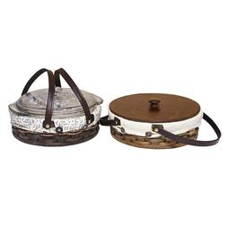 Custom Amish Handwoven Round Casserole Crockpot Carrier Bask