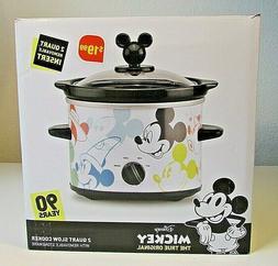 Cute Disney 90 Years with Mickey Mouse 2-Quart Crock Pot NIB
