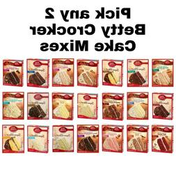Betty Crocker Delights/Favorites Cake Mix Choose any 2 Flavo