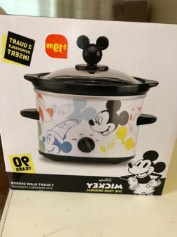 Disney Mickey Mouse 90 Years 2 Quart Crock Pot Slow Cooker