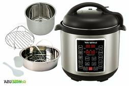 Electric Pressure Cooker Steamer Crock Pot 6 QT Steaming Rac