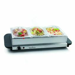 NutriChef Food Warmer Buffet Server Warming Tray Hot Plate -