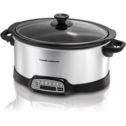 Hamilton Beach 33473 Programmable Slow Cooker 7 Quart Cookin