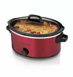 Hamilton Beach Kitchen, 6 Quart Red Slow Cooker, Crock Pot H