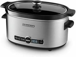 KitchenAid KSC6223SS 6-Qt. Slow Cooker with Standard Lid - S