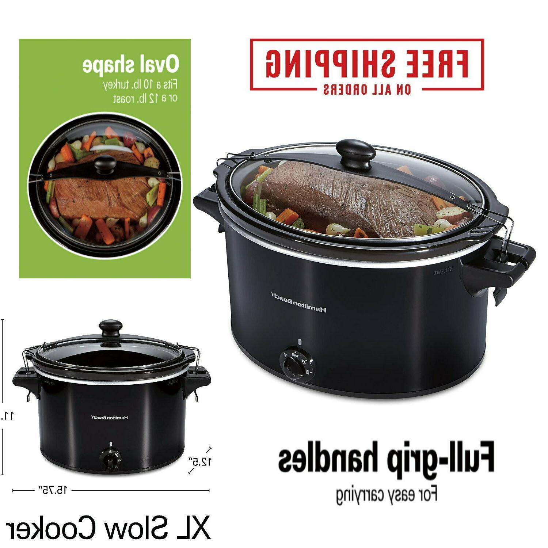 10 quart large crock pot slow cooker