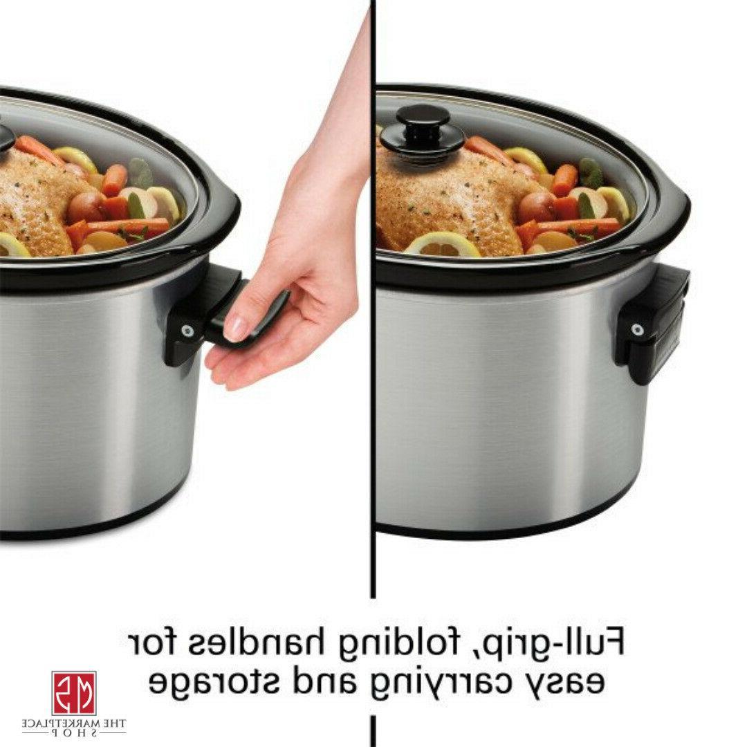 10 Quart Large Slow Cooker Crock Pot Kitchen