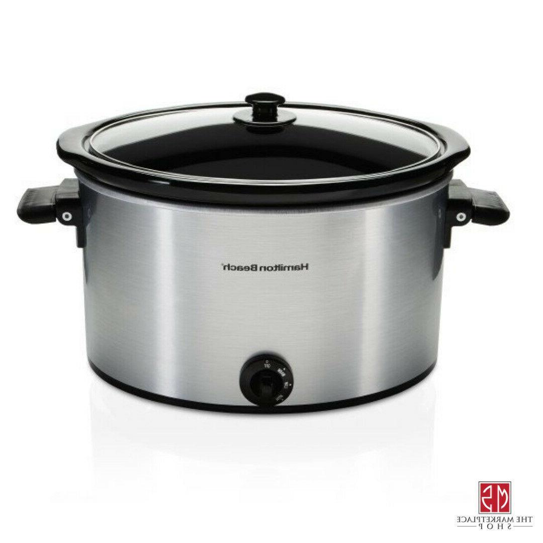 10 Slow Cooker Pot Stoneware Kitchen Appliance Hamilton