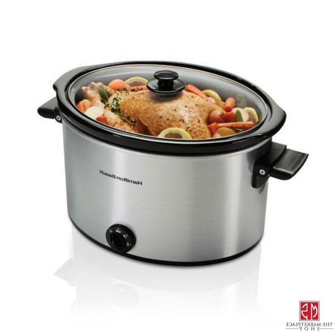 10 Large Slow Cooker Pot Kitchen Appliance