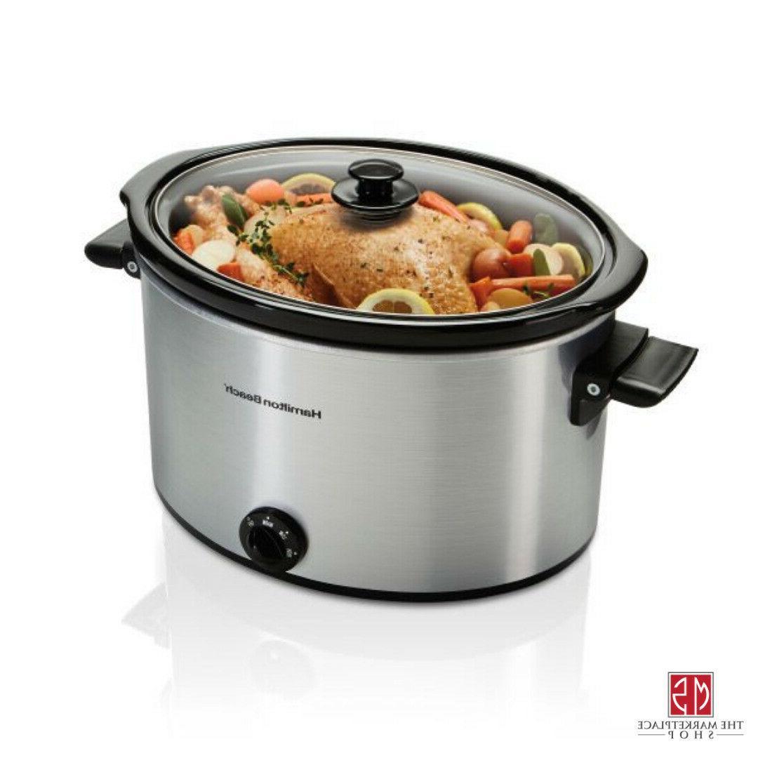 10 quart large slow cooker crock pot