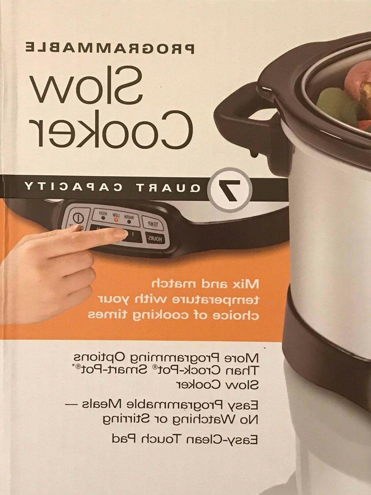 Hamilton Beach Programmable Slow Cooker 7-Quart Pot NEW