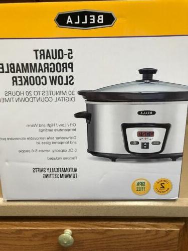 5 quart programmable slow cooker