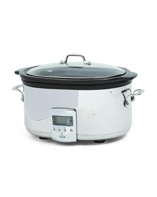 6 5qt ceramic slow cooker crockpot new