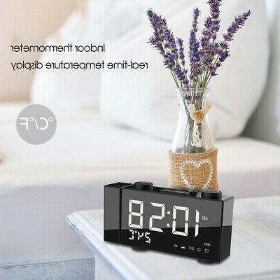 6 Digital FM Projection Radio Alarm 4 Brightness Adjustment L8B8