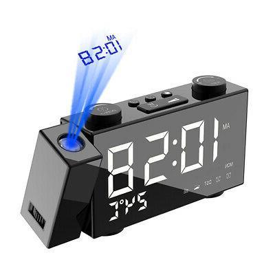 6 Digital Projection Alarm Clock 4 Brightness Adjustment L8B8