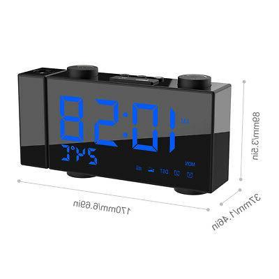 6 Digital Projection Radio Alarm Clock 4 Brightness L8B8