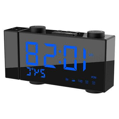 6 inch digital fm projection radio alarm