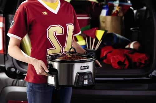 Crock-Pot Cook Carry Digital Slow Stainless SCCPCTS605-S-A