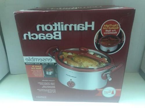8 quart qt large slow cooker crock
