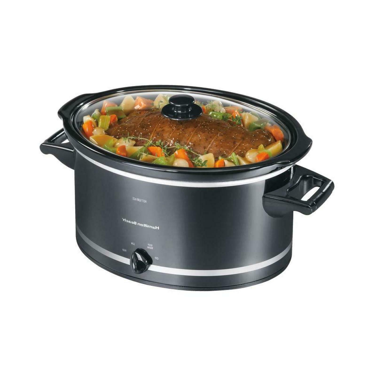 8 quart qt roast slow cooker crock