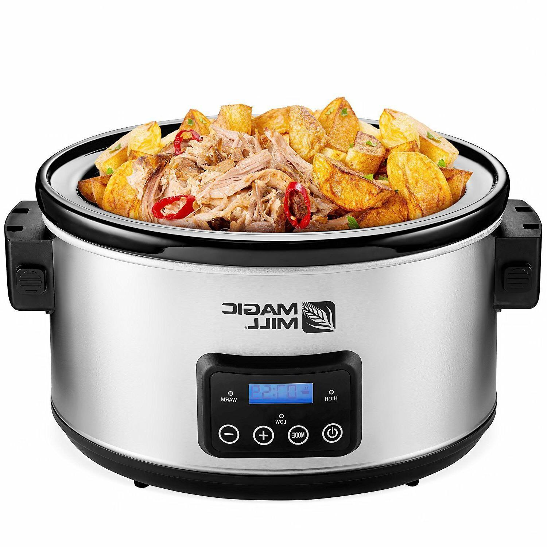 9qt Crock Pot Slow Cooker 9quart Big Crockpot