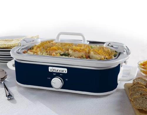 Crock-Pot Manual Cooker, Blue