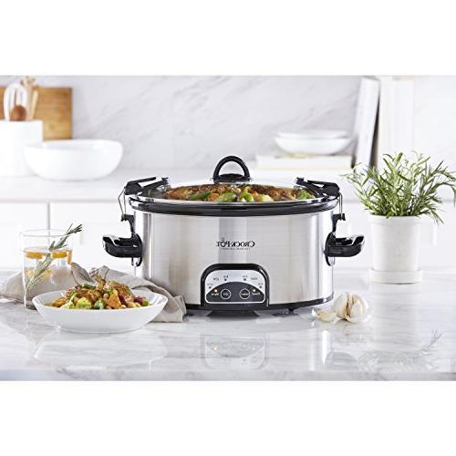 Crock-Pot SCCPVL605-S 6-Quart Cook & Carry Oval Slow