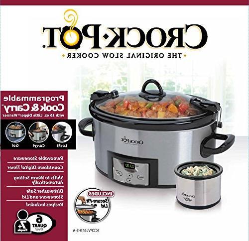 Crock-pot SCCPVL619-S-A Cooker with Black
