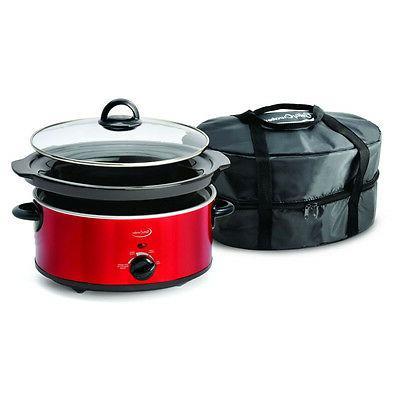 NIB BC-1544C 5-Quart Pot Travel recipe RED