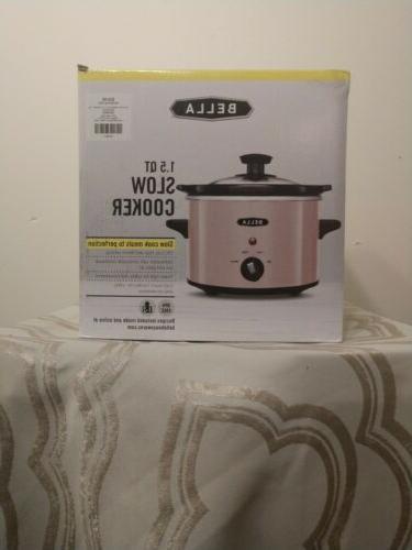 bella pink 1 5 q slow cooker