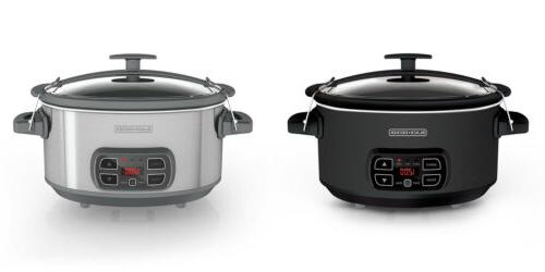 black decker 7 quart programmable slow cooker