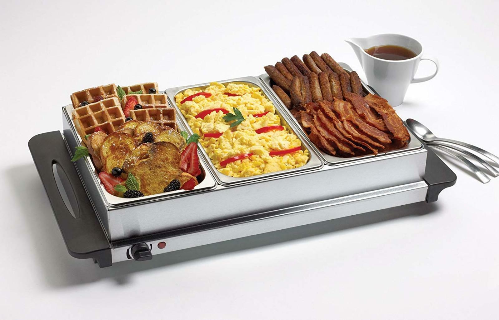 Buffet Server Triple Warmer Crock Pot Lid C