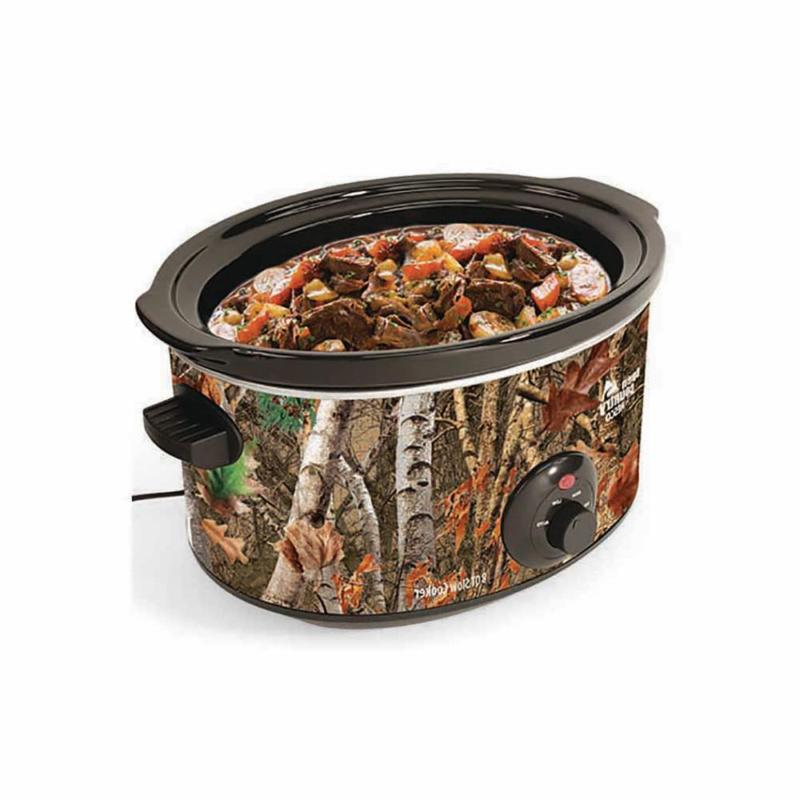 Camo Slow Pot Meal Pot Auto Wood Qt. New