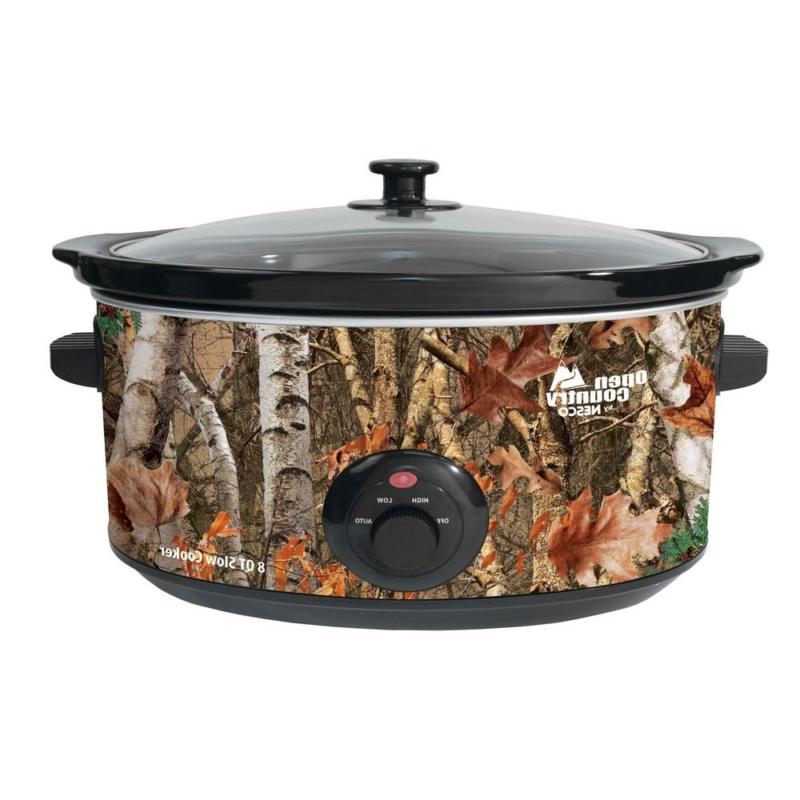 camo slow cooker one pot meal ceramic
