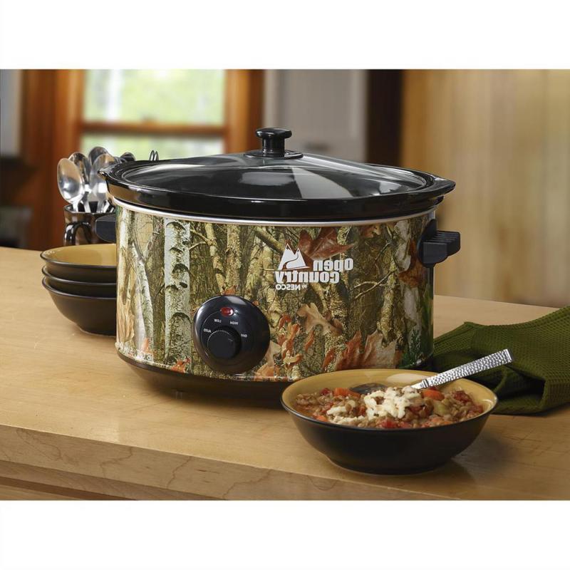 Camo Slow Cooker Pot Meal Ceramic Pot Wood