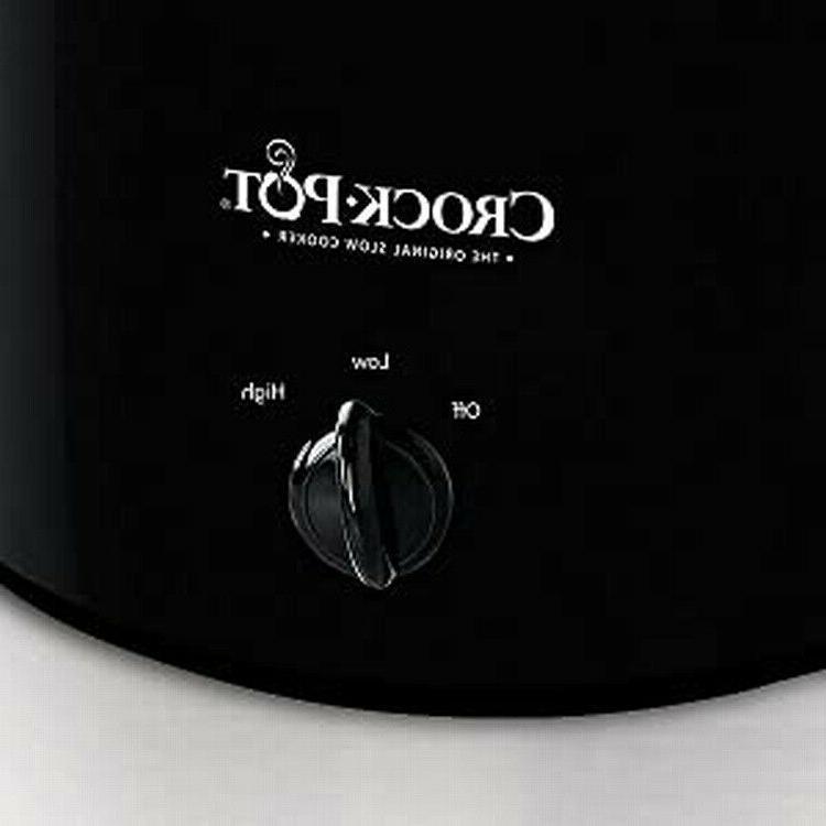 Crock-Pot Round Slow Cooker, Black