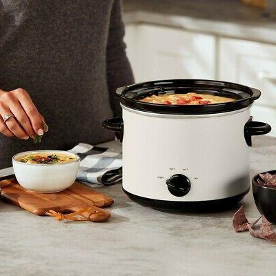 Crock 3qt Slow Cooker Multiple Heat Settings