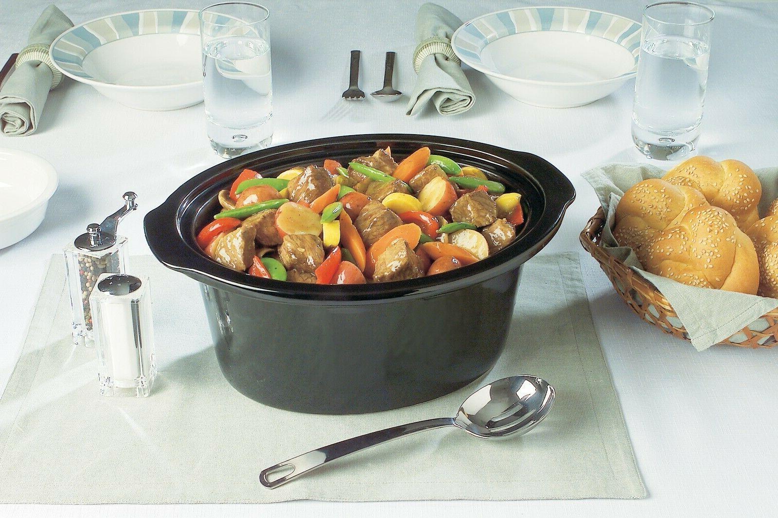 Crock-Pot Cooker Oval Black