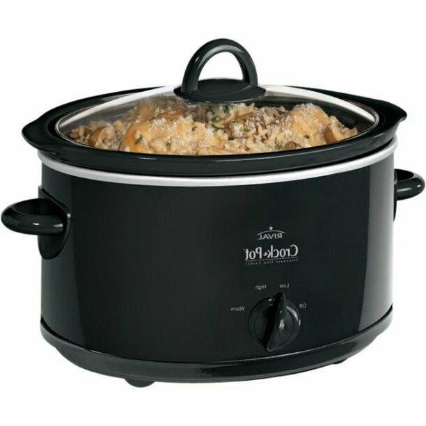 crock pot 4 quart slow cooker oval