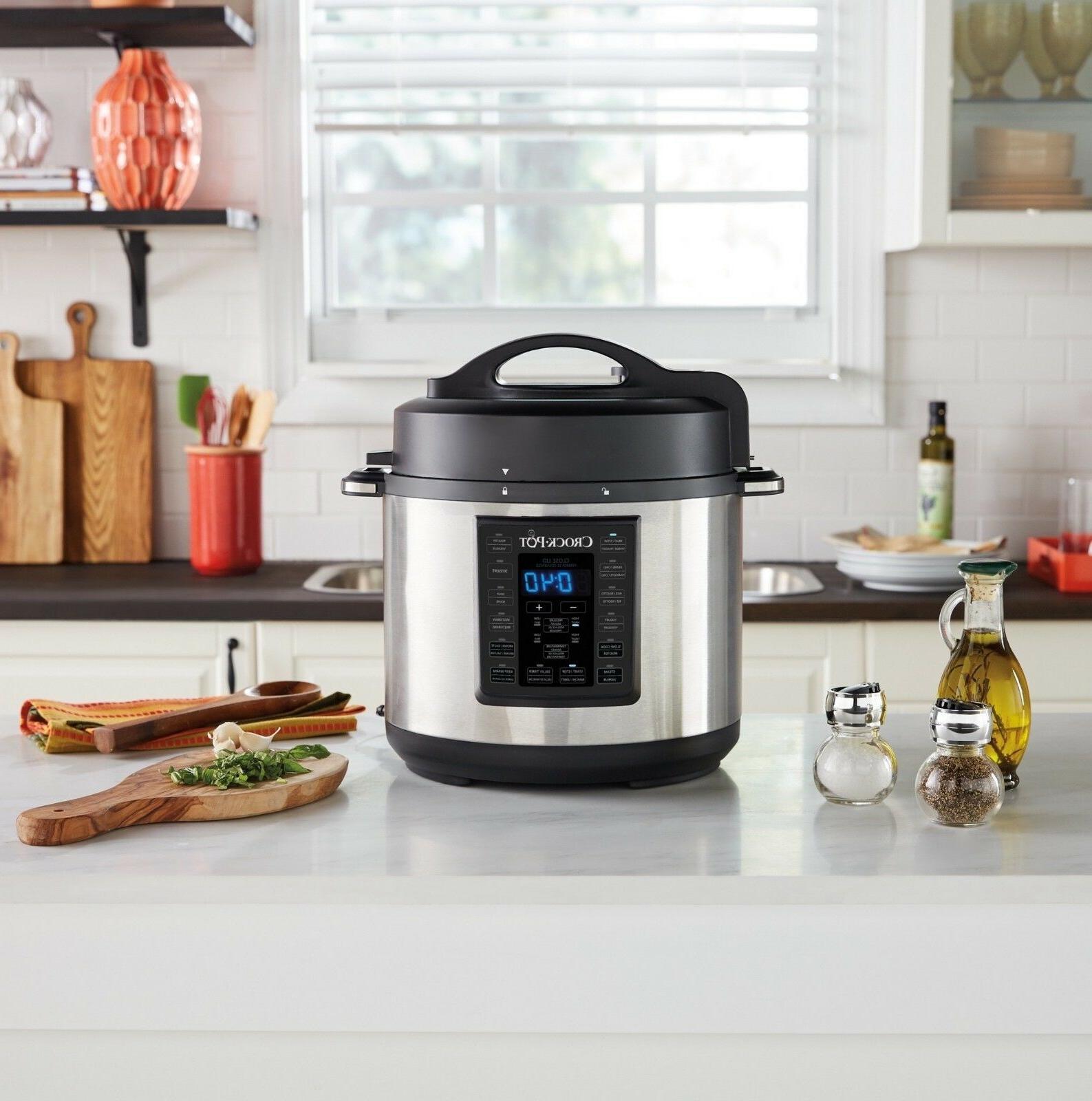 Crock-Pot Qt Multi-Use Express Slow Cooker, Pressure