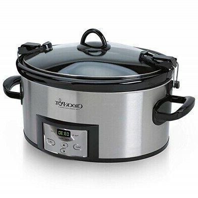 crock pot 6 qt cook and carry