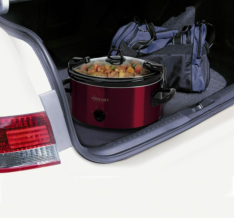 Crock-Pot 6-Quart Carry Oval Slow Red SCCPVL600R