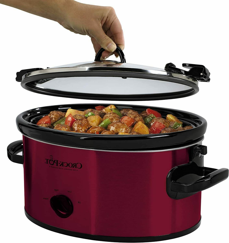 Crock-Pot 6-Quart Cook Carry Manual Portable Slow SCCPVL600R