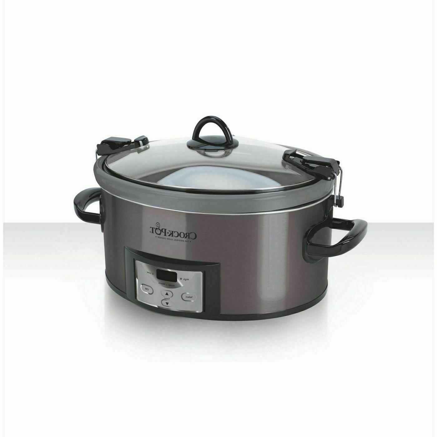Crock Pot 7qt Cook & Carry Programmable Slow Cooker - Black