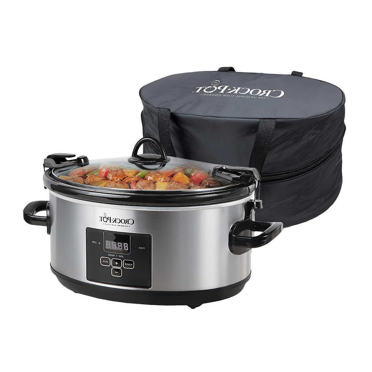crock pot 7quart programmable cook and carry