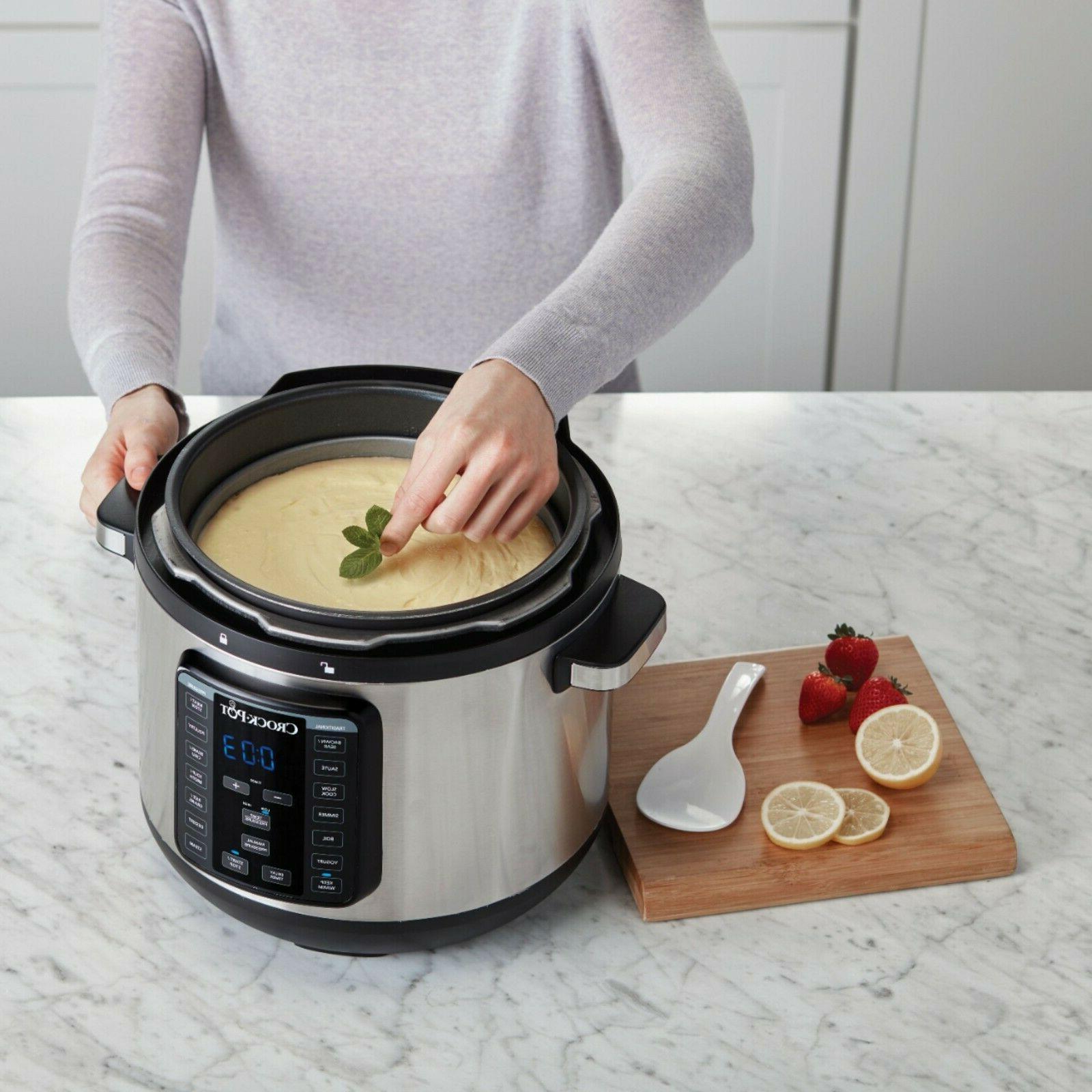Crock-Pot 8-Quart Multi-Cooker Steel