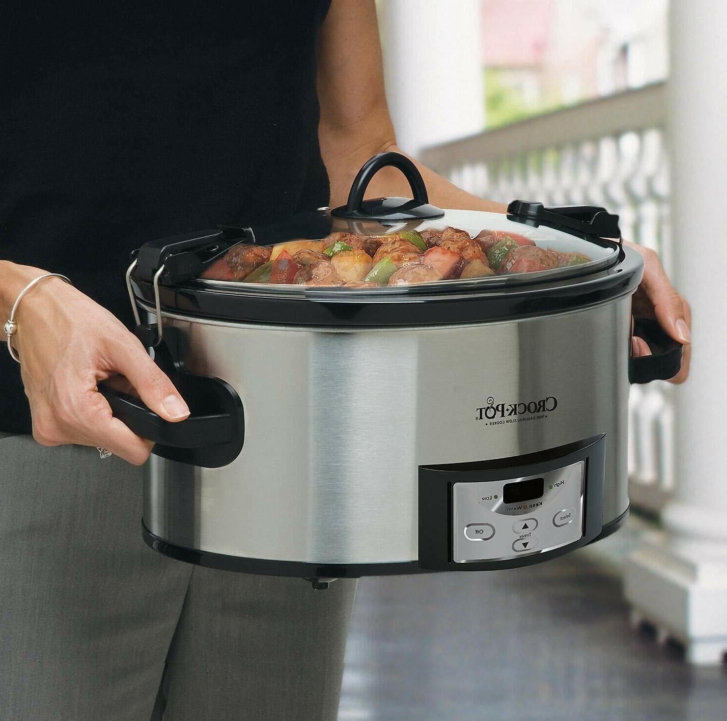 Crock-Pot Programmable Cook & Carry Slow Cooker