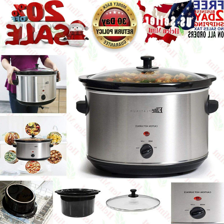 crock pot slow cooker large oval 8